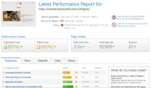 resultado teste performance