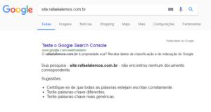 site exemplo O que fazer para o seu site aparecer no Google